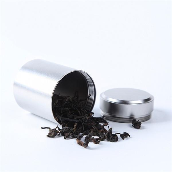 9 Colors Beautiful Aluminum Jar Tea Tin Box 45x65mm Small Cylinder Sealed Cans Coffee Tea Tin Container Storage Box TC190509 50PCS