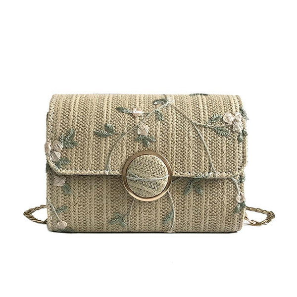 Fashion Sweet Women Crossbody Bags Female Small Surface Woven Flower Embroidery Messenger Shoulder Bag BS99