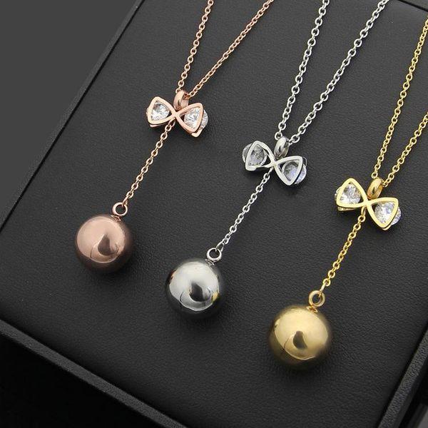 Uphot 2017 Collier avec pendentif couleur or chaîne collier en acier inoxydable pour les femmes d'Afrique cubiques colliers pendentifs zircon Bijoux