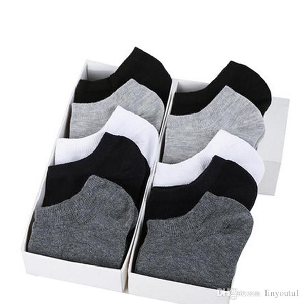 10pair / lot Moda Masculina felizes Meias barco Verão Outono antiderrapante de silicone Invisible chinelos meias de algodão Masculino Tornozelo Sock Meia