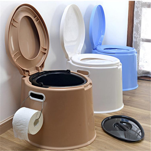 Wholesale-43*40*39cm Mouse Over Image To Zoom Portable Toilet Travel Camping Outdoor/indoor Potty Commode Removable