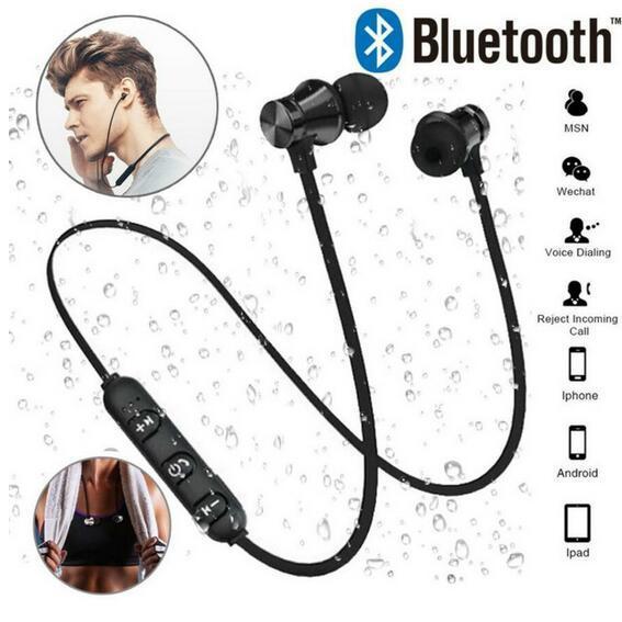 Беспроводные Bluetooth-наушники XT11 Спортивные наушники-вкладыши BT 4.2 Стерео Магнитная гарнитура для наушников с микрофоном для iphone X 8 Samsung с пакетом