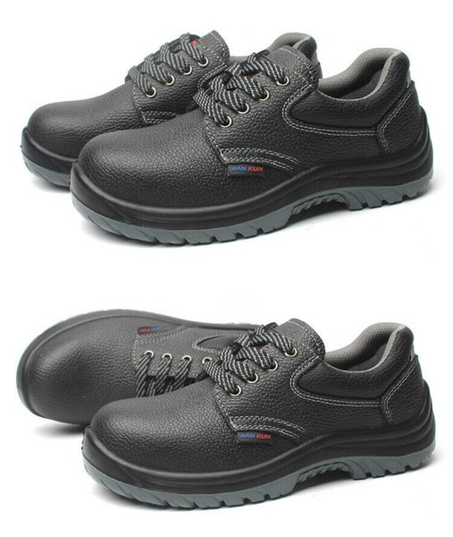 Hot Sale-Safety Shoes Fashion Steel Head Work Boot Breathable Waterproof Shock Absorption