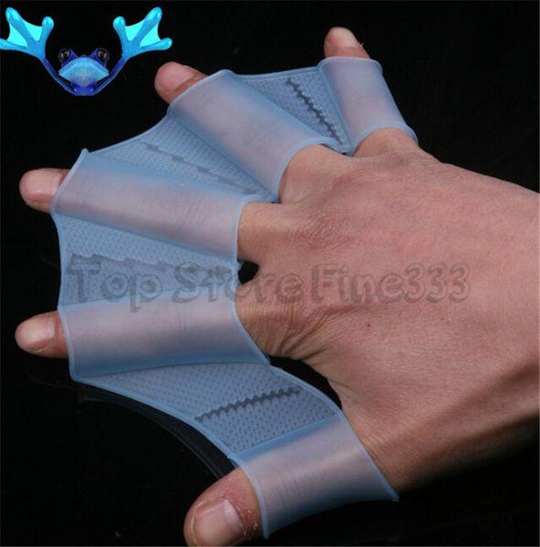 Grenouille unisexe type silicone Girdles 1pair Natation Palmes main Flippers Palm doigts palmés Gants Sports de pagaie en eau