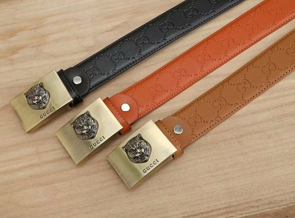 Business Men/'s Waistband Casual Waist Strap Metal Buckle Leather Belts New Style