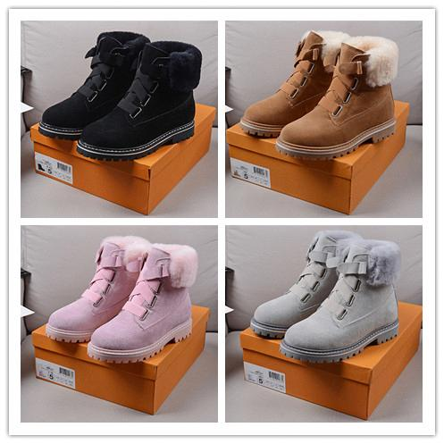 top popular 2019 Top Quality MEN wool BOOTS NEUMEL SUEDE Winter boots new women classic boots Newm series straps casual warm mini boot Shoes with b75df# 2020