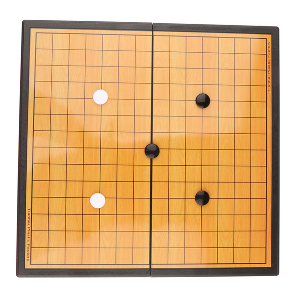 top popular Foldable Chessboard Chinese Go Gobang Renju Game Chess Board and Magnetic Chess Pieces 2021