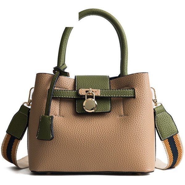 High-end Atmosphere Casual Ladies Handbag Hit Color Personality Composite Bags Fashion Simple Shoulder Messenger Bag