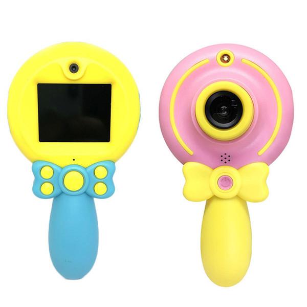 2 pulgadas 100 grados de ángulo para niños mini cámara digital de doble lente 1920x1080 Grabación de video Autodisparador Juguetes de fotografía para niños