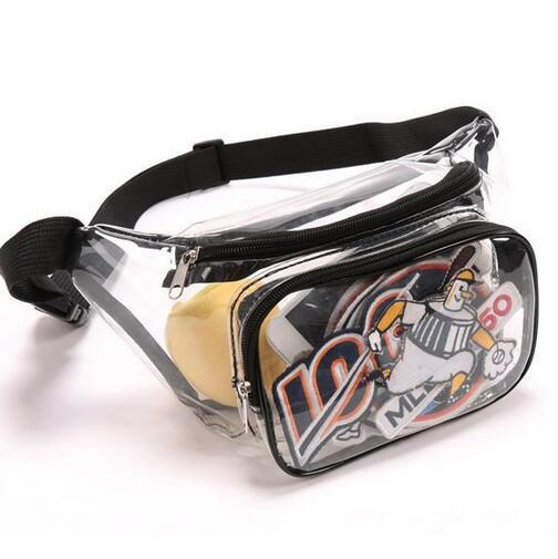 2019 the Clear Tote Bag Stadium Approved - 6.5 x 11 x 5.9- Shoulder straps and zippe + PATCH on sale