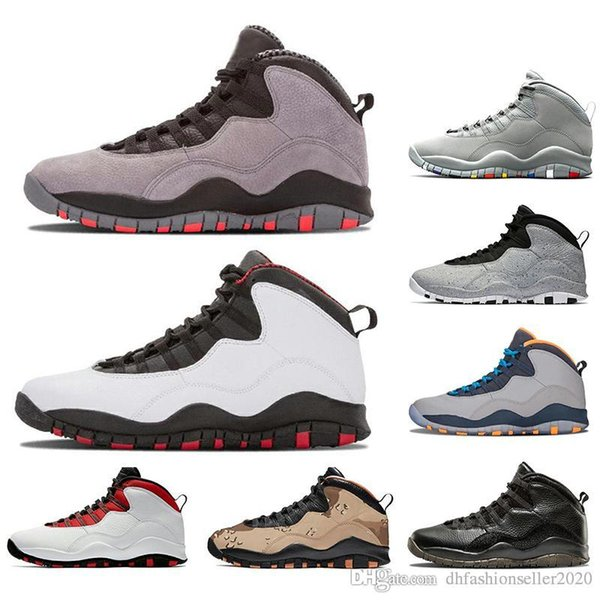 With Socks Mens basketball shoes 10 Desert Cat Tinker Cement 10s mens shoes Grey Grey red Powder blue iam back trainers sports sneaker