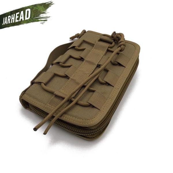 Exército Ao Ar Livre Fã Tático Saco de Mão Camping Nylon Maleta de Ferramentas Carteira de Esportes Militares (20x12x3 cm) # 214353