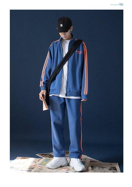 Mens Designer Anzug mit Kapuze Mode Jacke gestreiften Pullover Anzug Printed Luxus Zippers Jacke und Hose