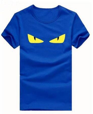 Limitada dos homens de Verão T-Shirts Ocasionais Irritado Olho de Algodão de Manga Curta O-pescoço Esporte T Shirt Tees Top Preto Branco