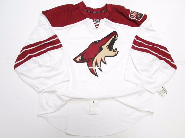 Wholesale customization PHOENIX COYOTES AWAY TEAM ISSUED JERSEY GOALIE CUT Mens Stitched Personalized hockey Jerseys