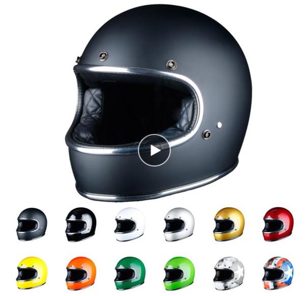 full face motorcycle helmet cascos para casco motor off road safe moto helmet FIberglass leather dot Certification