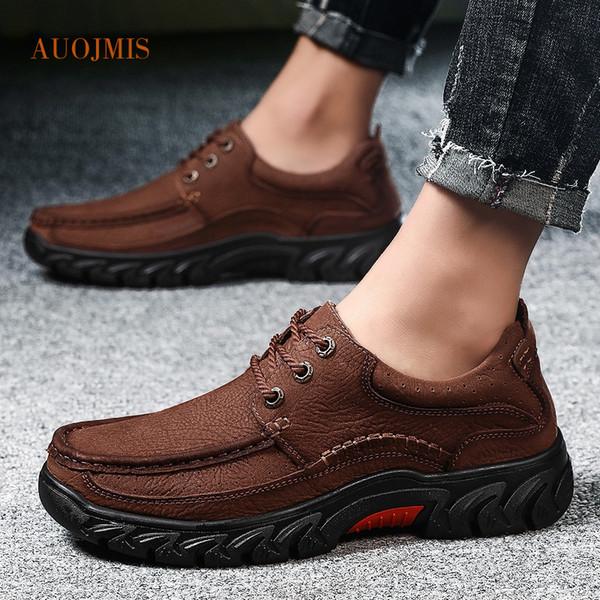 Zapatos de hombre versión coreana del verano de cuero de gamuza zapatos de papá transpirables fondo suave de gran tamaño casual de negocios