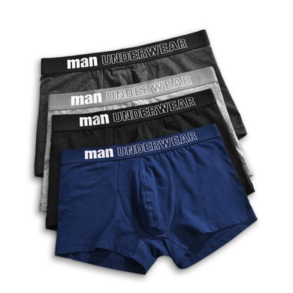 Hommes Designer Fashion boxers Lettre Couleur unie d'impression boxers Hommes Luxe Respirant Underpants hommes Sous-vêtements 6 couleurs Taille S-3XL