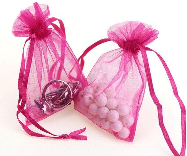 Neu Kommen 7x9 cm Hochzeit Dekorationen Baby Shower Organza Taschen Schmuck Geschenke Parteibevorzugung Süßigkeiten Geburtstag Lieferungen Verpackung Goodie