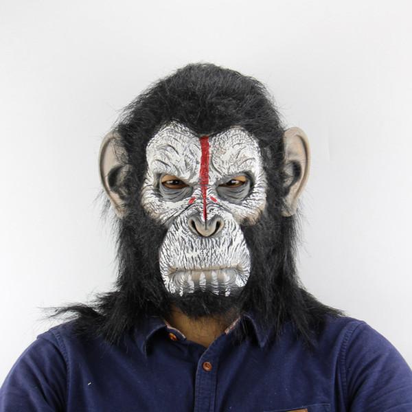 Divertido Beanie Shapka Maska El planeta de los simios Máscara Czapka Meska Gorras Látex Realista Halloween Cosplay Atrezzo Juguete