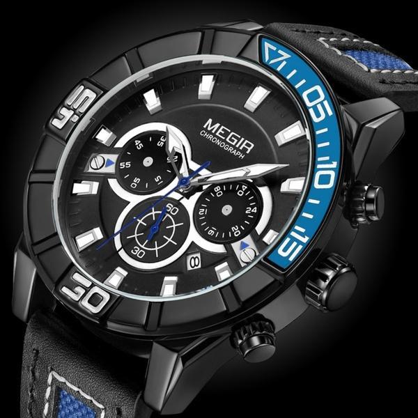 124a87e9964 Compre Megir Moda Criativa De Luxo Marca Cronógrafo Esporte Relógios ...