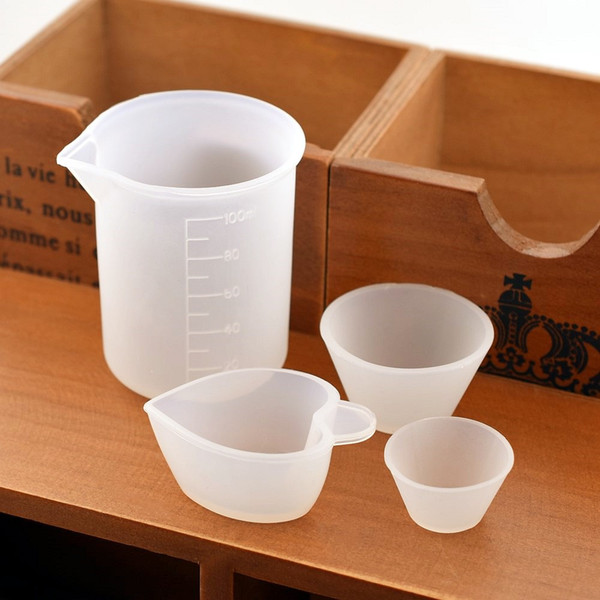 jewelry making tools SNASAN 1X Silicone measuring Split cup Resin Silicone Mould handmade DIY Jewelry Making tool epoxy resin cup 100ML