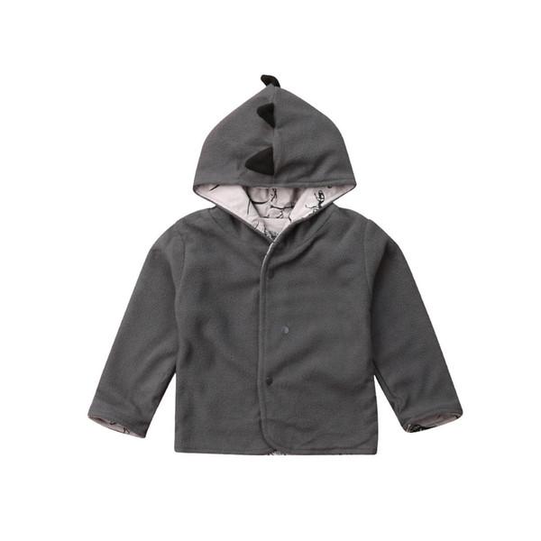 Autumn Toddler Kids Baby Girl Boy Clothes Fleece Tops Coats Cute Dinosaur Print Jacket Coats Warm Winter Clothing Boy 1-4T
