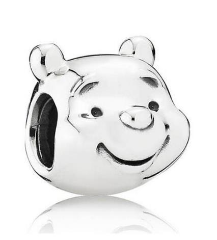 Оригинал 925 стерлингового серебра животных из бисера Шарм Пух медведь бисер Fit женщин Pandora ожерелье Diy ювелирные изделия