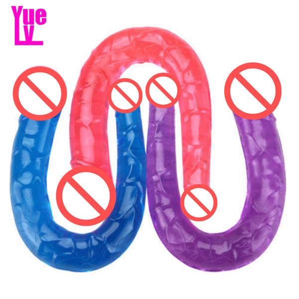 YUELV 3 Color Small U Shape Double Heads Realistic Dildo Erotic Toys Lesbian Artificial Penis Female Masturbation Adult Sex Erotic Toys