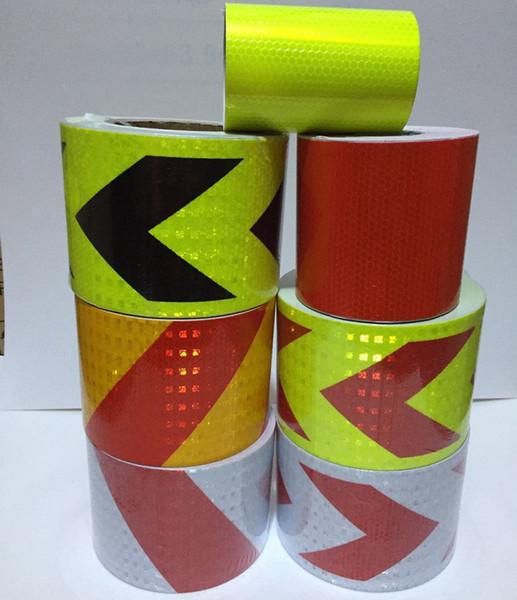 top popular 10CM*1M Self-adhesive Arrow Twill Reflective Warning PVC Tape 2021