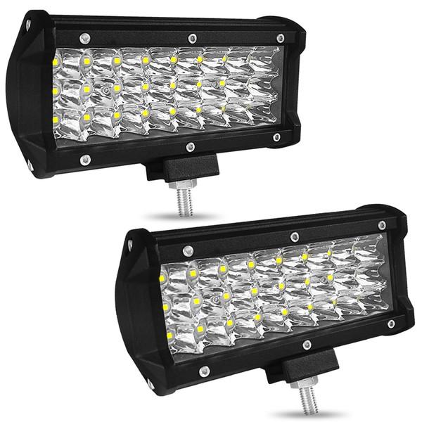 7 pouces 72W 7200LM IP68 Étanche 3 Rangées LED Bande Lumière de travail Remonter Conduite Tout-Terrain Lumière Toit Lampe À Bande Véhicule Jeep SUV