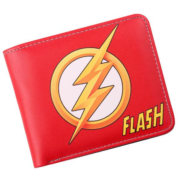 Il Flash Comic Logo Bi-Fold Wallet Holder Mens ID contanti borsa della frizione
