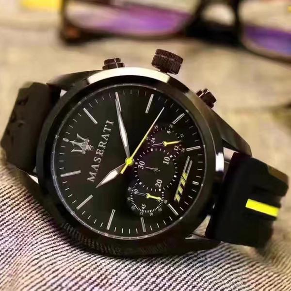 2019 Nuevo Regalo de Moda para Hombres Reloj de Lujo Diseñador de la Marca Casual Reloj Deportivo de Cuarzo Correa de Caucho Reloj de pulsera de alta calidad para hombres Relogios
