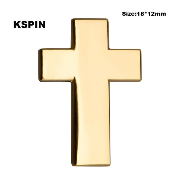 Golden Cross Lapel Pin Flag Badge Lapel Pins Badges Brooch XY0109
