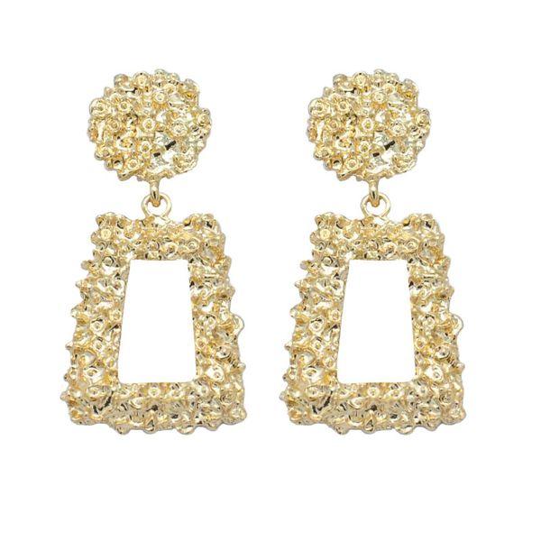 Vintage Ohrringe für Frauen von Farbe große Goldohrring geometrische Aussage 2018 Metallohrring Anhänger Schmuck Mode-Trend