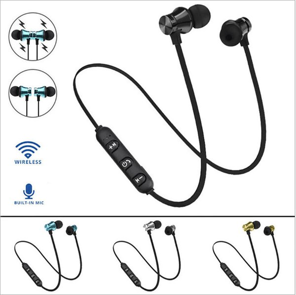 XT11 Magnet Sport Headphones Wireless Stereo Earphones with Mic Earbuds Bass Headset for iPhone Samsung LG smartphones with Retail Box