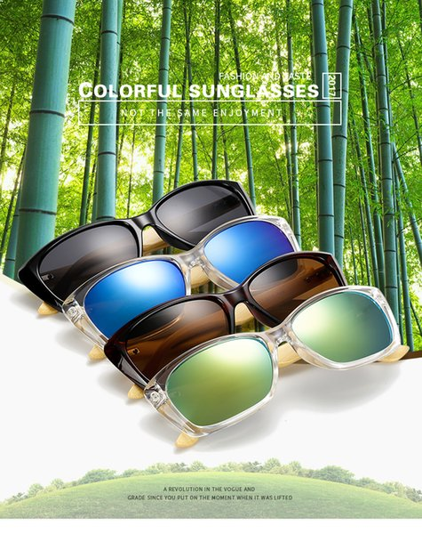2019 New Vintage Wood Sunglasses Women Men Bamboo Wooden Sun glass Mirror Shades Sun Glasses Lunette glasses With Case Box