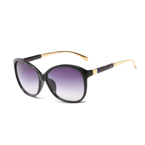 Women's brand designer polarized sunglasses summer frog sunglasses gold frame quality anti-UV color mixing top quality glasses to send boxes