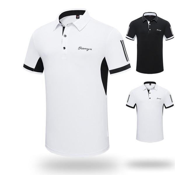 Summer Men tshirt 2019 Golf Clothing Men's Short Sleeve T-Shirt Lapel Polo Shirt Sports Clothes Team
