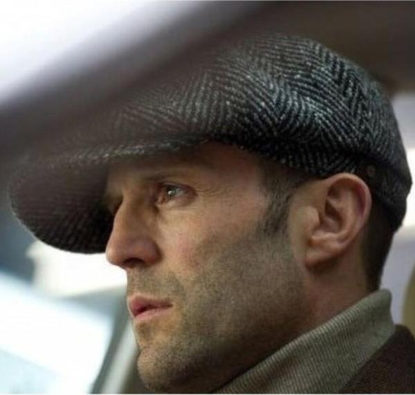 43dca4de7b8 Fashion Octagonal Cap Newsboy Beret Hat Autumn And Winter Hats For Men s  International Superstar Jason Statham