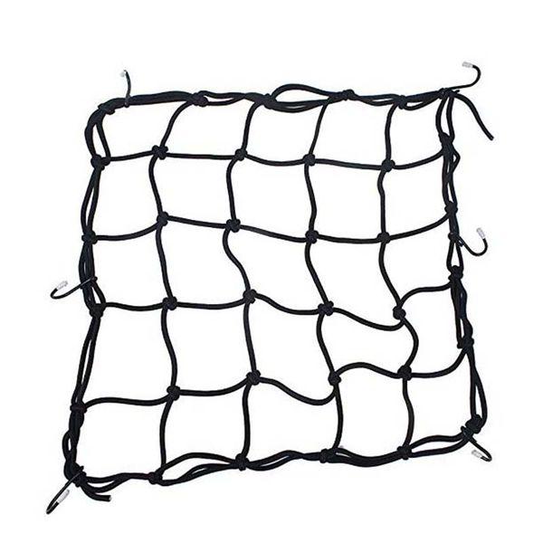 Vélo Vélo Siège Arrière Moto Bagages Filet Net Cord Latex Bungee Mesh Caoutchouc Astuce Réservoir De Carburant Mesh Web Crochets Tenir