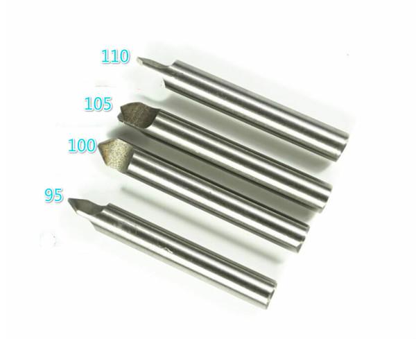 brocas helicoidales blancos mordieron 4pcs / lot 95.100.105 y 110 grados para 368A 339C clave vertical de broca de la máquina de corte