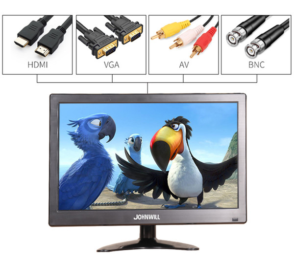 12 inch 1920x1080 LCD HD Monitor Computer PC Display Color Screen 2 Channel Video In Security Monitor With Speaker HDMI VGA USB
