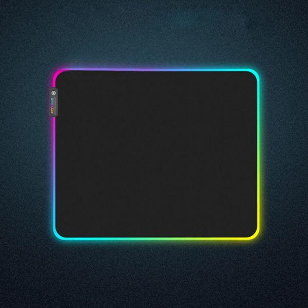 Крупногабаритные Светящиеся Led подсветкой RGB Универсальный Компьютерные аксессуары Большой Ультра тонкий ноутбук Mouse Pad Клавиатура с низким сопротивлением