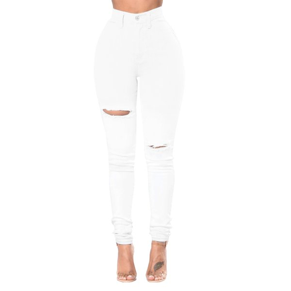 Cheap Women jeans High Strength Water washed skinny jeans Ladies fashion New Style Leisure Bottom Jeans Wholesale 237#