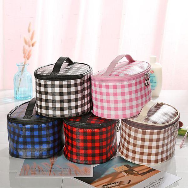Grade maquiagem cosméticos Zipper Handbag Moda Viagem Poratble Wash Bolsas Bolsa Multi-Function sacos de armazenamento 5styles RRA2056