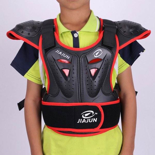 Neuer Motorradfahrer für Kinder, ausgestattet mit Off-Road-Panzerungskleidung, Anti-Fall-Brustschutz und Schutzkleidung
