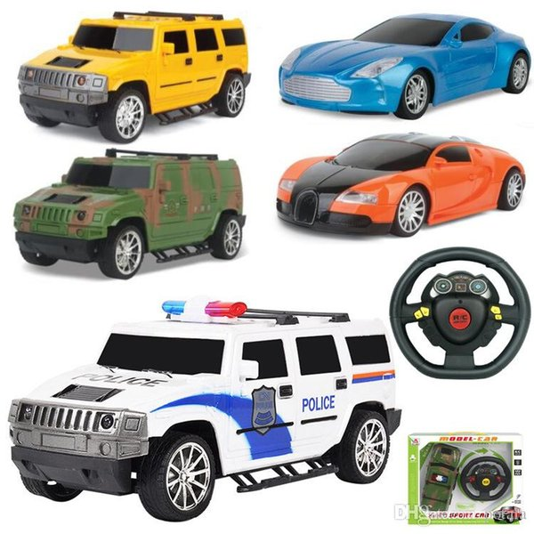 Fun Remote Control 4CH RC Car Electric Toys Happy kids Toys Party Radio Racing Controlled Cars 4 Channels Vehicle SUV Police Tank Army Cars
