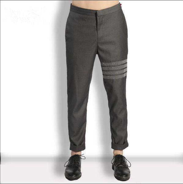 2018 yeni yaz erkek pantolon moda Iş Rahat sıska pantolon ince pantolon Gentry rahat takım elbise pantolon artı boyutu sahne