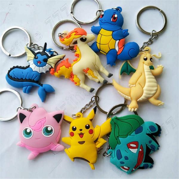 Pokemons 7 Design Anime Keychain Pokemons Keychain Keyring Decorative pendant Gift Children's Toys PVC Key chain
